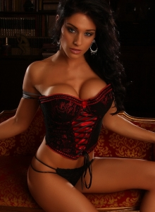 Busty Alluring Vixen Amanda Can Barely Be Contained By Her Sexy Lace Corset - Picture 10