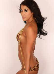 Alluring Vixen Anne Shows Off Her Perfect Curves In A Tiny String Leopard Print Bikini - Picture 9