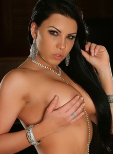 Alluring Vixen Shows Off In Just Some Black Lace Panties And A Little Bling - Picture 4