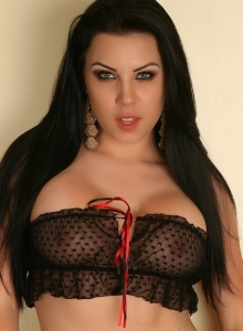 Aura Teases In A Skimpy Semi Sheer Top And Matching Panties - Picture 1