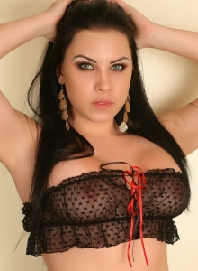 Aura Teases In A Skimpy Semi Sheer Top And Matching Panties - Picture 3