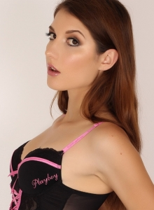 Alea Teases As She Strips Out Of Her Pink And Black Corset - Picture 2