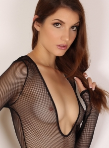 Alluring Vixen Alea Shows Off Perfect Body Sexy Slutty Mesh Bodysuit - Picture 1