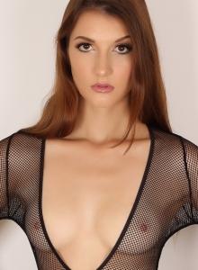 Alluring Vixen Alea Shows Off Perfect Body Sexy Slutty Mesh Bodysuit - Picture 3