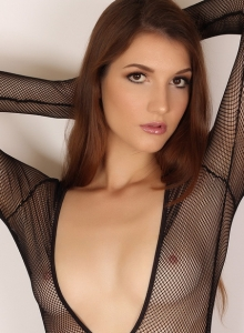 Alluring Vixen Alea Shows Off Perfect Body Sexy Slutty Mesh Bodysuit - Picture 5