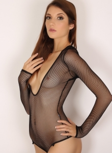 Alluring Vixen Alea Shows Off Perfect Body Sexy Slutty Mesh Bodysuit - Picture 6
