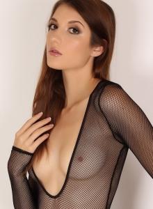 Alluring Vixen Alea Shows Off Perfect Body Sexy Slutty Mesh Bodysuit - Picture 9