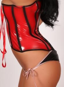 Alluring Vixen Brittany Teases Tight Corset Bikini Bottoms - Picture 7