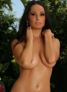 Corin Riggs String Bikini Strips Nude Poolside - Picture 12