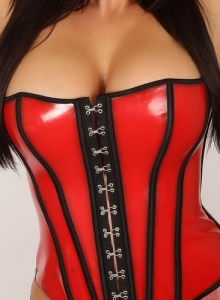 Lauren Ashley Teases In A Super Tight Latex Corset That Barely Contains Her Big Perfect Tits - Picture 3
