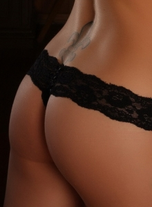 Sexy Alluring Vixen Tease Olivia Shows Off Her Perfect Tits Through Her Semi Sheer Mesh Lingerie - Picture 8