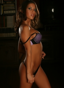 Sol Shows Off Her Perfect Body In Her Sexy Purple Bra And Tiny Black Thong - Picture 8