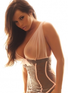 Busty Vixen Candace Is Glowing In Her Almost Sheer And Lace Lingerie - Picture 4