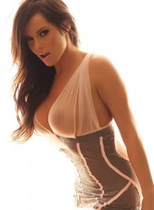 Busty Vixen Candace Is Glowing In Her Almost Sheer And Lace Lingerie - Picture 6