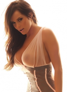 Busty Vixen Candace Is Glowing In Her Almost Sheer And Lace Lingerie - Picture 7