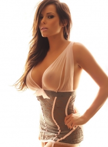 Busty Vixen Candace Is Glowing In Her Almost Sheer And Lace Lingerie - Picture 11