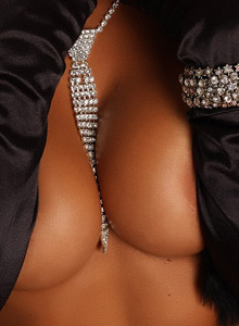 Alluring Vixen Candace Shows Off A Little Bling Between Her Huge Breasts - Picture 5