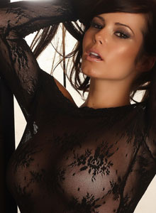 Alluring Vixen Candace Shows Off Her Big Perfect Breasts In A Very Sexy And Almost Sheer Lace Top - Picture 8