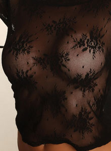 Alluring Vixen Candace Shows Off Her Big Perfect Breasts In A Very Sexy And Almost Sheer Lace Top - Picture 9