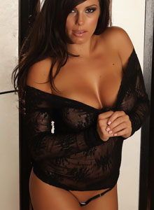Alluring Vixen Candace Shows Off Her Big Perfect Breasts In A Very Sexy And Almost Sheer Lace Top - Picture 10