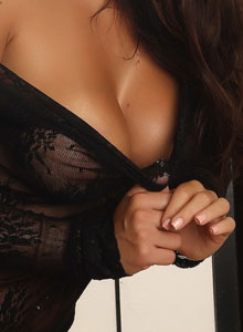Alluring Vixen Candace Shows Off Her Big Perfect Breasts In A Very Sexy And Almost Sheer Lace Top - Picture 11