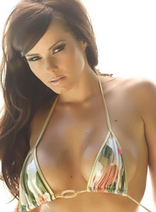 Busty Vixen Candace Shows Off Her Perfect Curves In A String Camo Bikini - Picture 7