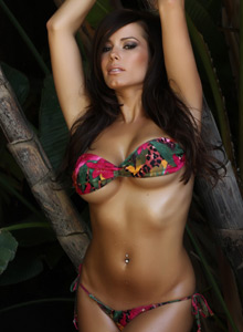 Alluring Vixen Candace Shows Off In A Very Skimpy Bikini Outside - Picture 6