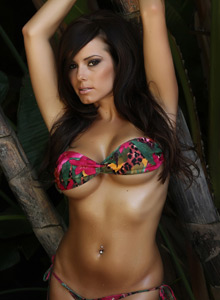 Alluring Vixen Candace Shows Off In A Very Skimpy Bikini Outside - Picture 7