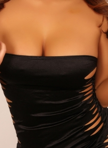 Curvy Christine Shows Off In A Very Tight Mini Dress - Picture 4