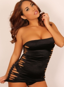 Curvy Christine Shows Off In A Very Tight Mini Dress - Picture 12