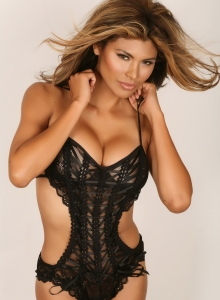 Claudia Teases In Her Black Lace Lingerie Outfit That Barely Covers Her Big Juicy Breasts - Picture 3