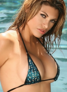 Claudia Is In The Pool In A Skimpy String Bikini That Barely Covers Her Perfect Curves - Picture 6