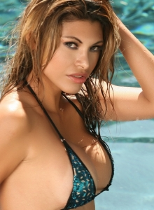 Claudia Is In The Pool In A Skimpy String Bikini That Barely Covers Her Perfect Curves - Picture 8