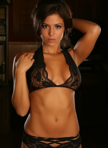 Sexy Perfect Alluring Vixen Erica Teases Skimpy Lace Top Panties - Picture 10
