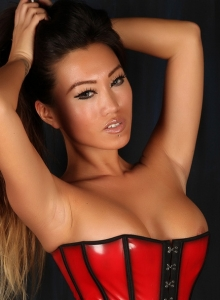 Asian Babe Jada Cheng Teases In A Tight Corset And Black Thong - Picture 6