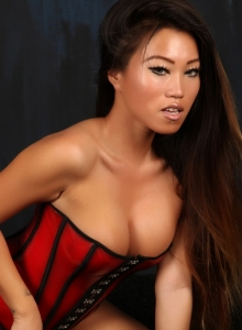Asian Babe Jada Cheng Teases In A Tight Corset And Black Thong - Picture 10