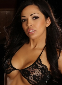 Karla Shows Off Her Stunning Curves In Her Skimpy Little Black Lace Outfit - Picture 1
