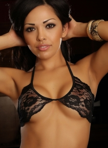 Karla Shows Off Her Stunning Curves In Her Skimpy Little Black Lace Outfit - Picture 8