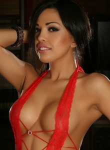 Sexy Alluring Vixen Karla Shows Off Her Perfect Body In Very Skimpy Red Lace Lingerie - Picture 12