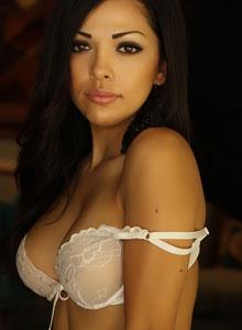 Alluring Vixen Karla Poses In A Semi Sheer Lace Bra - Picture 2