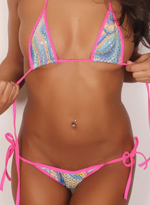 Alluring Vixen Kasey Shows Off In A Blinged Out String Bikini - Picture 7