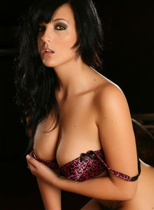 Busty Vixen Kaya Danielle Shows Off Her Huge Breasts In A Tight Cute Bra - Picture 7