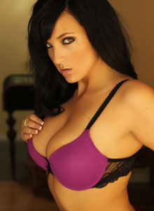 Alluring Vixen Kaya Danielle Is Almost Popping Out Of Her Tight Bra With Her Huge Tits - Picture 5
