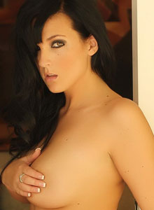 Alluring Vixen Kaya Danielle Is Almost Popping Out Of Her Tight Bra With Her Huge Tits - Picture 11