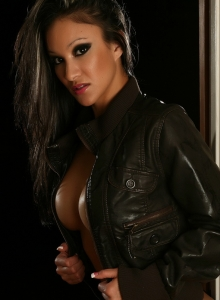 Vixens Babe Kira Teases With Her Big Juicy Tits In Just A Leather Jacket - Picture 9
