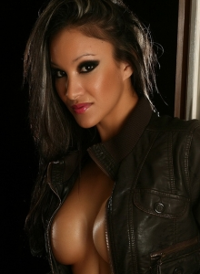 Vixens Babe Kira Teases With Her Big Juicy Tits In Just A Leather Jacket - Picture 10