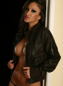 Vixens Babe Kira Teases With Her Big Juicy Tits In Just A Leather Jacket - Picture 11