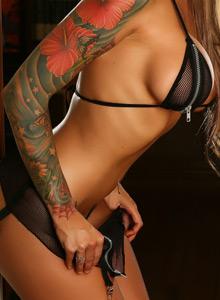 Megan Daniels Teases With Her Huge Boobs In A Zipper Bikini - Picture 10