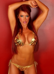 Shanna Teases In A Gold Sequin Covered String Bikini - Picture 11
