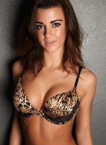 Taylor Shows Off In A Sexy Animal Print Bra With Matching Lace Panties - Picture 2